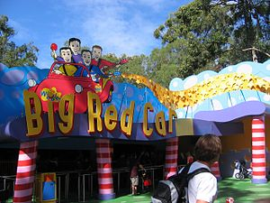 Wiggles World - The entrance to the Big Red Car Ride.