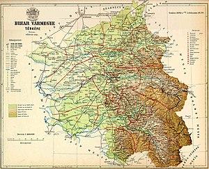 Bihar County - Image: Bihar county map (1891)