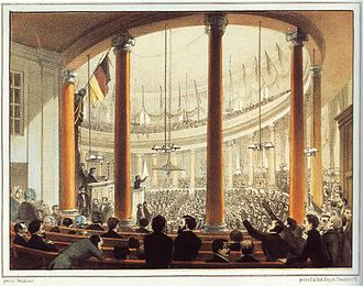 German Empire (1848–49) - The German National Assembly in the St. Paul's Church, Frankfurt