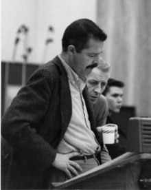 Holman with Stan Kenton in December 1961 at Capitol Studios, Hollywood, California