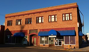 National Register of Historic Places listings in Klamath County, Oregon - Image: Bisbee Hotel Klamath Falls Oregon
