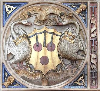 Peter Courtenay - Image: Bishop Peter Courtenay Chimneypiece Exeter Detail 2