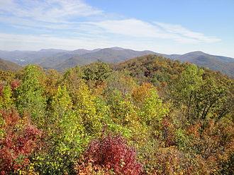Black Rock Mountain State Park - Blue Ridge overlook