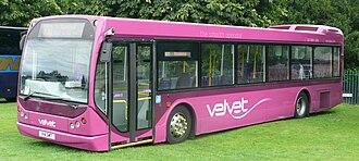 DAF SB220 - A step free DAF SB220 (East Lancs Myllennium) run by Black Velvet Travel in Eastleigh, UK.