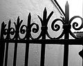 Black and white photograph of cast iron gate.jpg