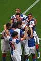 Blackburn Rovers vs Arsenal goal celebrations.jpg