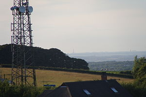 Billinge Hill - Blackpool Tower (visible on the horizon) from Billinge Hill.