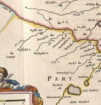 Slamannan - Image: Blaeu Atlas of Scotland 1654 STERLINENSIS Slamannan