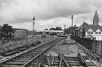 Blaina - Until 1962 Blaina had a station on the Great Western Railway. These are the remains in 1966
