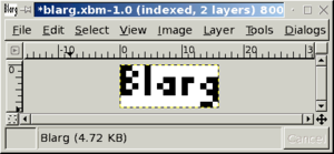 X PixMap - Blarg file opened in program window
