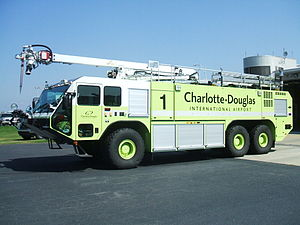 Charlotte Fire Department - Blaze 1 have an extending stick with a point nozzle called the snozzle.