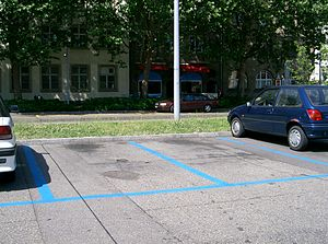 Parking space - Marked parking spaces