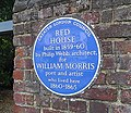 Blue plaque outside Red House.jpg
