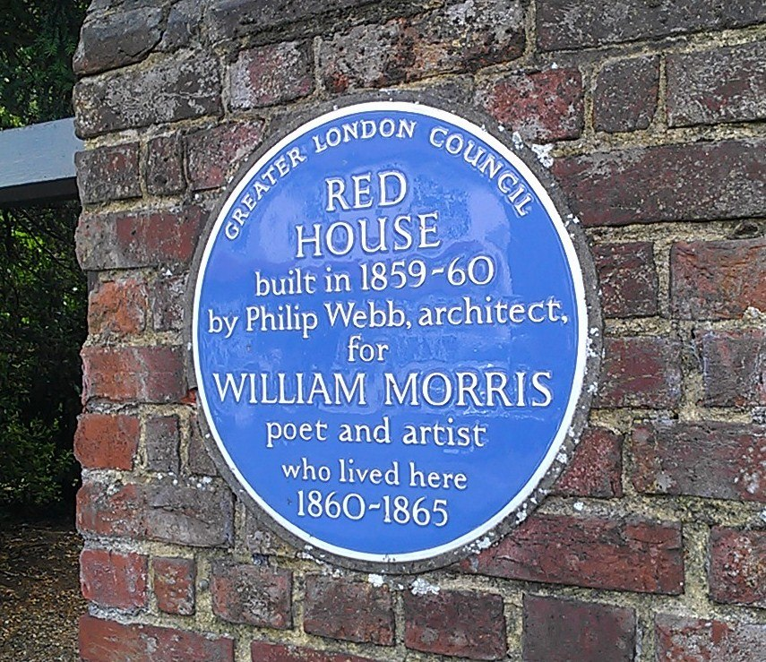 Blue plaque outside Red House