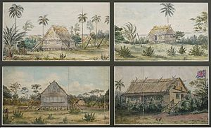 Mosquito Coast - Dwellings in Bluefields in 1845