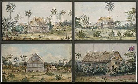Dwellings in Bluefields in 1845 Bluefields Mosquito Coast 1845.jpg