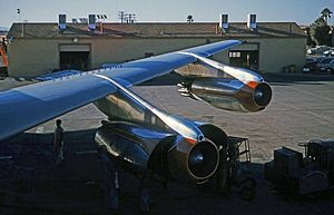 Pratt & Whitney J57 - JT3Cs installed on a Boeing 707-123