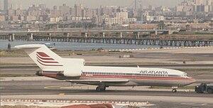 Pan Am Express - An Air Atlanta  Boeing 727 at LaGuardia Airport (1985).