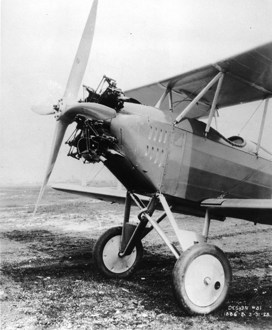 Boeing 81 closeup of 125 hp Fairchild-Caminez 4-cylinder radial engine