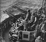 Bofors 40 mm mount on US heavy cruiser in 1950.jpg