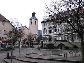 Bad Boll - Town center with the Church of Saint Cyriacus
