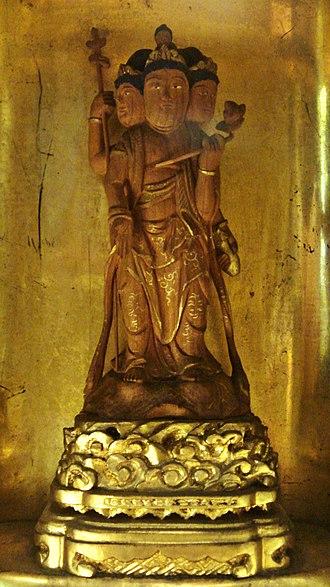 Brahmā (Buddhism) - A Japanese sculpture of Brahma (Bonten)