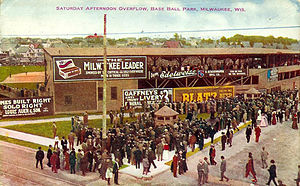 Borchert Field - Postcard of Athletic Park exterior, postmarked 1911