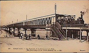 Gustave Eiffel - The Bordeaux bridge, Eiffel's first major work.