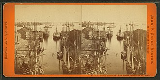 State Street Block (Boston) - Image: Boston harbor and East Boston from State St. block, by Soule, John P., 1827 1904 2