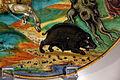 Bottega di maestro andreoli e disegno di francesco x. avelli, piatto con pico, circe e canente, 1528, 02 cinghiale.JPG