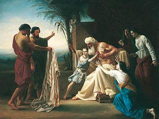 Jacob recieving Joseph's bloody coat