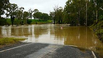 Boyne River (Wide Bay–Burnett) - The Boyne River in flood, 2010