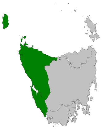 Division of Braddon (state) - Map of Braddon