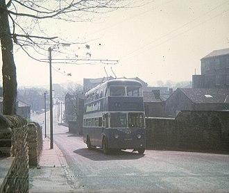 Greengates - Bradford Trolley Bus on Albion Road