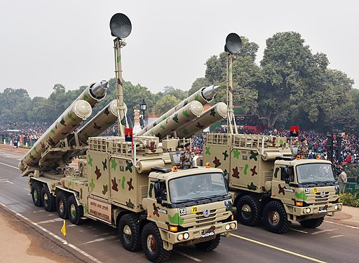 BrahMos missiles during rehearsal of Republic Day Parade 2018