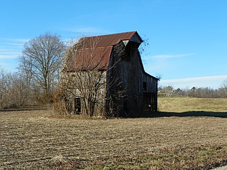 Brazeau Bottom - Image: Brazeau Bottoms, Perry County, Missouri, Old Barn
