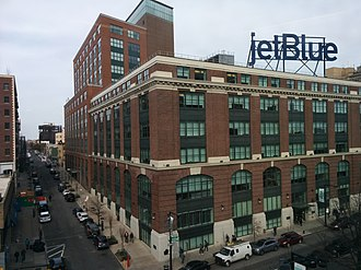 Long Island City - Brewster Building, the JetBlue headquarters, from Queensboro Plaza