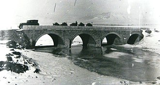 Dragor (river) - Bridge on the River Dragor near the area Dovledzik in Bitola, 1916