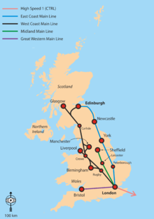 Map Of England Rail.Rail Transport In Great Britain Wikipedia