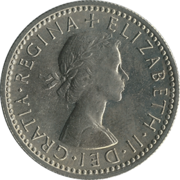 British sixpence 1962 obverse.png