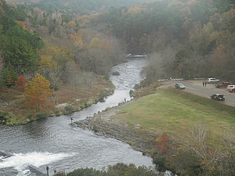 Beavers Bend Resort Park - Broken Bow spillway overlook