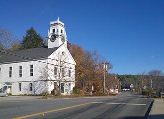 Brookline, New Hampshire - Brookline Community Church (built 1838)