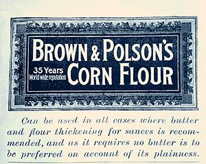 Corn starch - Advertisement for a Cornflour manufacture, 1894
