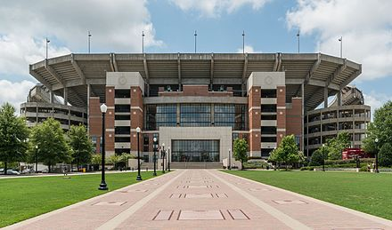 Bryant-Denny Stadium at the University of Alabama in Tuscaloosa Bryant-Denny Stadium, Tuscaloosa AL, North view 20160714 1.jpg