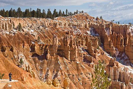 A view from Sunset Point in Bryce Canyon, Utah.