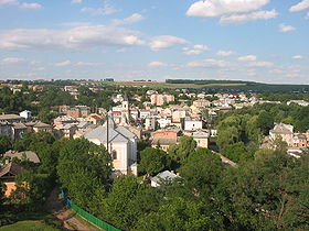 Panoramic view of Buchach in 2005.