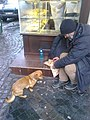 Bucharest, Romania. The street man with the dog.jpg