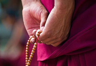 Tantric Theravada - Buddhist prayer beads used for mantra recitation.