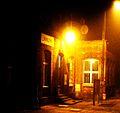 Budzyn train station at night.JPG