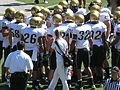 Buffaloes in huddle at Colorado at Cal 2010-09-11 1.JPG
